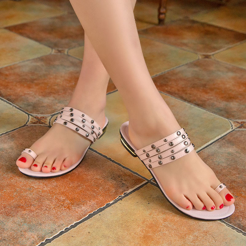 Simple Dames Été Sandale Mules Sexy Plat Chaussures 2014 Populaire 45AScqj3RL