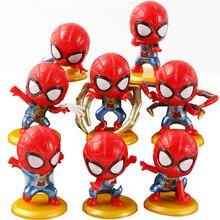 8 pcs/set Disney Marvel Avengers Infinite War Q Spider-Man Action Figure Doll Toys Model Desktop Car Ornaments Christmas Gift