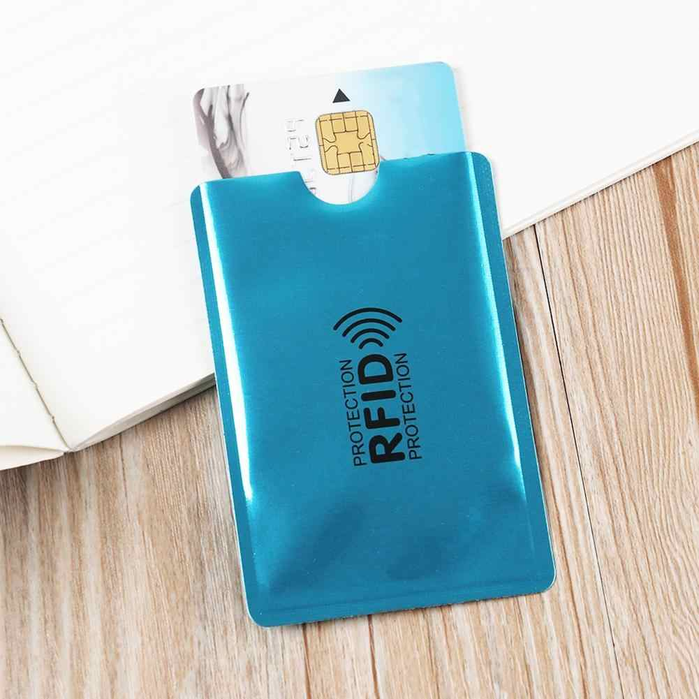 10Pcs Aluminium RFID Blocking Card Holder Case Anti-theft Protective Sleeve Reader Lock Bank Metal Credit Card Holder