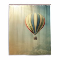 Hot Air Balloon Cortina De Chuveiro Modern Curtains For Bathroom Anti Mold Colorful Fabric Shower Curtains