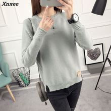 2018 new winter jacket sweater shirt Korean female spring coat Long Sleeved Pullover Sweater Xnxee