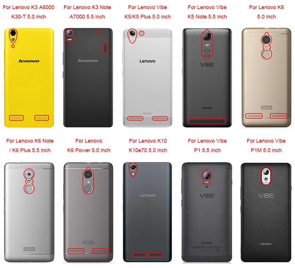 Untuk Lenovo K3 K5 K6 Plus Catatan Power K10 P1M Zuk Z2 A1000 1010 2010 2020 X3 Lite Pro Getaran tembakan Z90 S60 S90 Case Plastik Keras