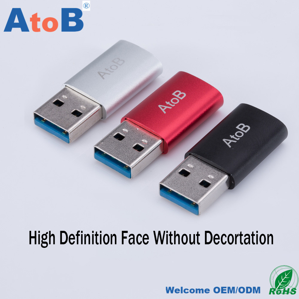 ATOB USB3.0AM To Type-C3.1 Female Adpter Converter OTG function for Samsung Huawei Xiaomi all phone tablet Macbook Chromebook
