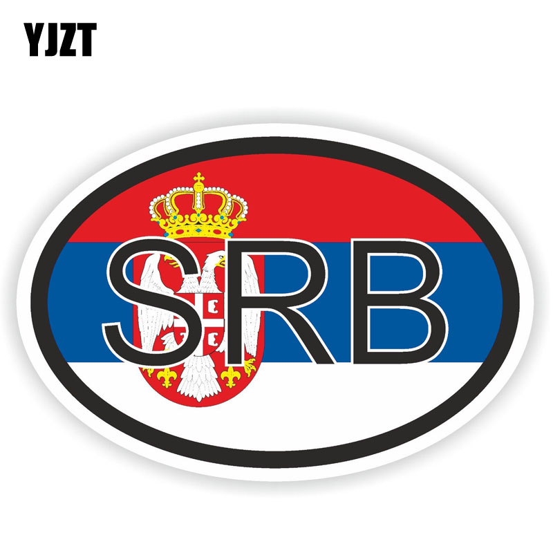 YJZT 13.2CM*9CM Flag Car Sticker Personality SERBIA Country Code Decal Accessories 6-0946
