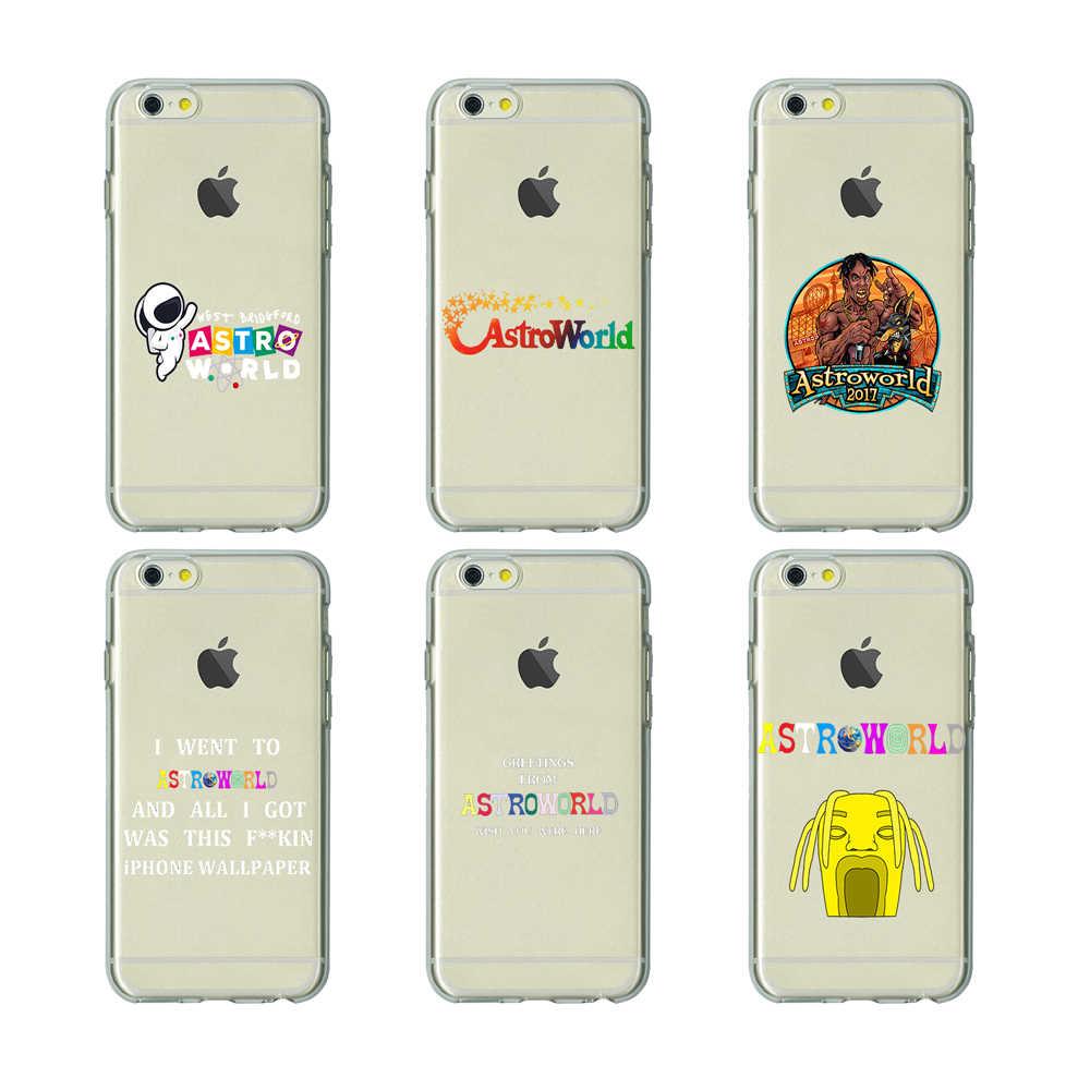 Travis Scott Phone Case Astroworld Tpu Soft Silicone Clear Cover