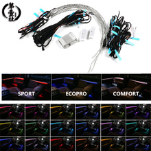 Car styling 18 colors led ambient lights for BMW 5 series F10 F11 F18 interior decorative led stripe atmosphere lamps upgrade