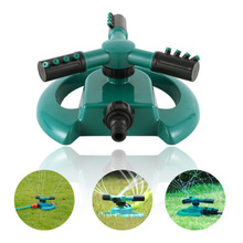 Garden Lawn  Sprinklers 360 Degree Automatic Rotating Watering Three-arm Nozzle Sprinkler Irrigation Tool