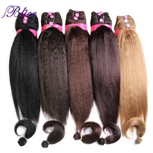 """Blice Synthetic Hair Extension 14 """"16"""" 18 """"Tecelagem Do Cabelo Kanekalon Yaki Feixes de Cabelo Cor Pura Para As Mulheres reta 5 unidades/pacote"""