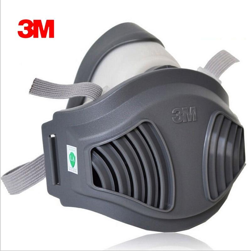 3 M 1211 + 10pc1701filtro de algodón media cara máscara de Gas polvo Anti industrial conatrucción polvo polen Haze poison Familia Profesional