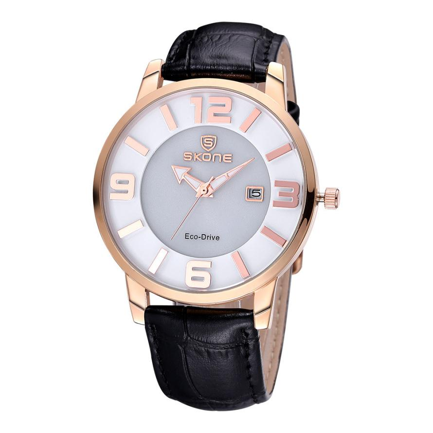 2016 SKONE Brand New Watch Women Fashion Leather Bracelet Quartz Watches Clock For Ladies