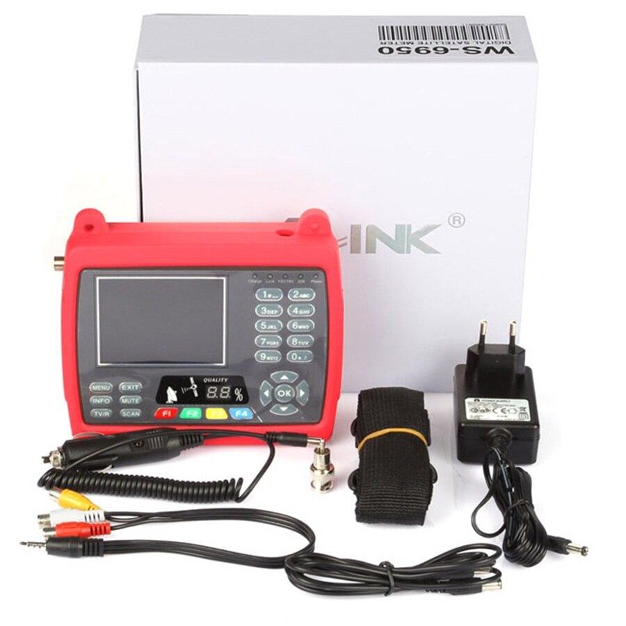 Satlink WS 6950 3.5 Satellite Finder DVB S ws 6950 Sat Finder Satellite Signal Finder Meter Sat Link 6950 Digital Sat Finder