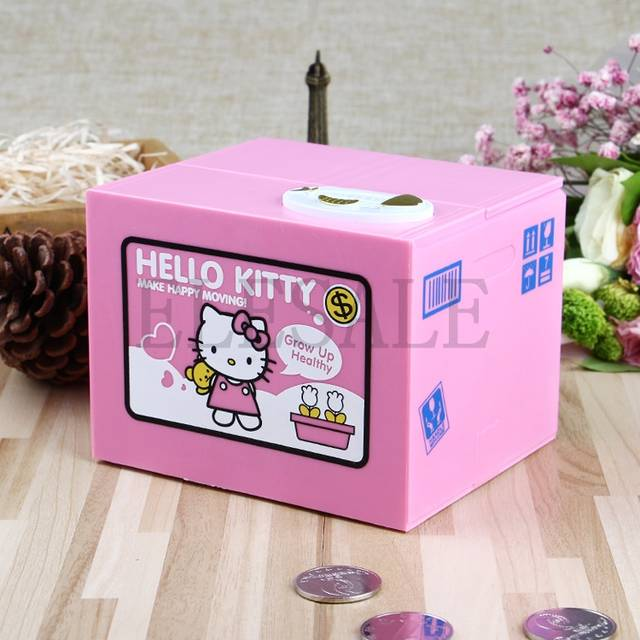 c0d73c670 Hello Kitty Brand New Steal Coin Piggy Bank Electronic Plastic Money Safety  Box Coin Bank Money boxes-in Anti-theft Lock from Security & Protection on  ...