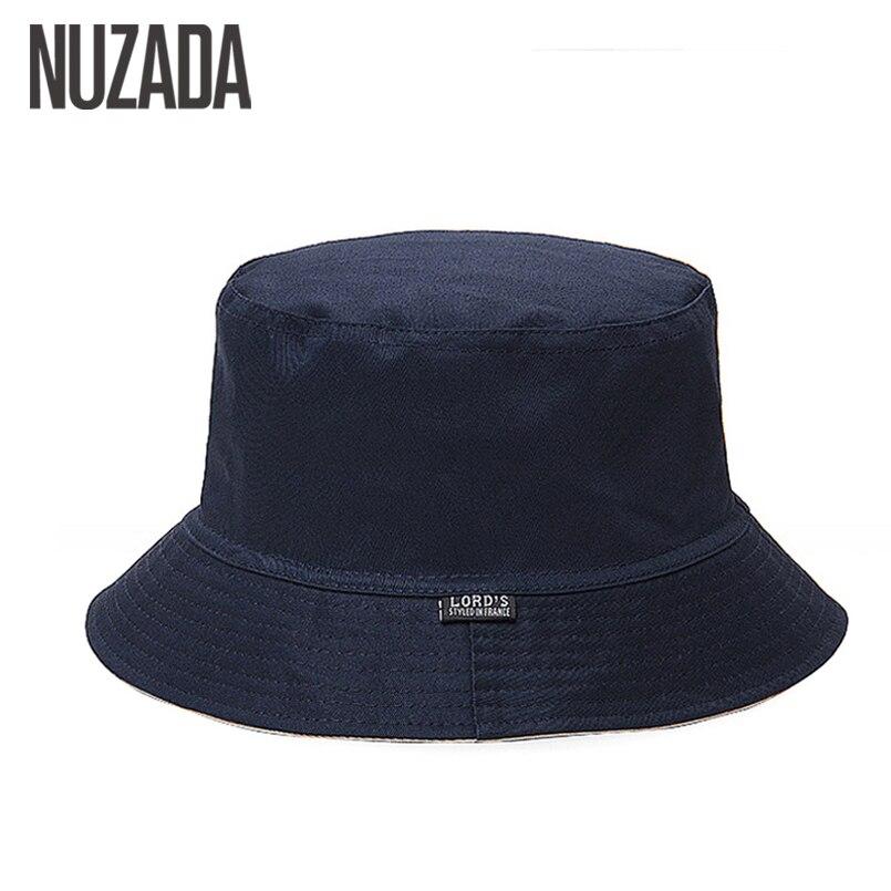 NUZADA 2017 Sunscreen Men Women Bucket Hat Caps Summer Autumn Solid Color Fisherman Panama High Quality Cotton Simple Hats