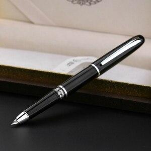 Image 4 - חדש הגעה גיבור 101 # מלא מתכת עט נובע דיו עט 0.5mm/1.0mm חלק תלמיד כתיבה מעולה משרד עסקי אריזת מתנה