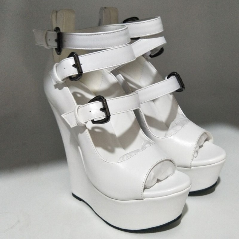 Chaussures Gratuite Dames Cuir Taille À blanc Nouveau En Cm Rouge Shofoo Livraison Blanc 15 2018 45 Cales Sandales 5 Sandales Hauts Sandales Talons 34 fAqwdF4