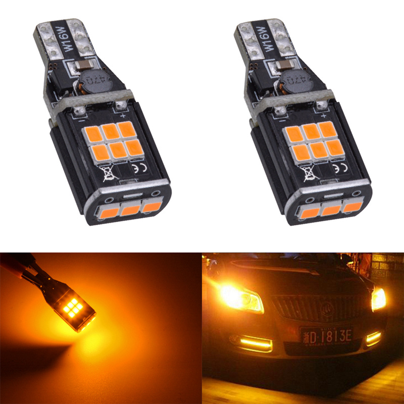 Katur 2x T15 W16W Led Bulb For Reverse Backup Light T15 W16W 912 921 Led Canbus Error Free Tail Light Amber/Orange Lighting 2pcs high quality superb error free 5050 smd 360 degrees led backup reverse light bulbs t20 for hyundai i30