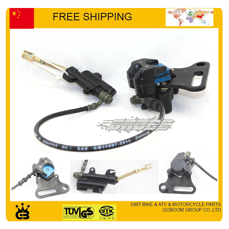DIRT PIT BIKE Master Cylinder Caliper Hydraulic Rear Brake Assembly 90cc 110cc 125CC accessories free shipping