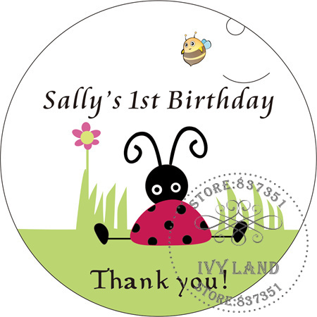 Free Shipping,New Paper,Custom Adhesive Sticker / Label,For Baby Shower / Birthday,Circle 5cm,B28