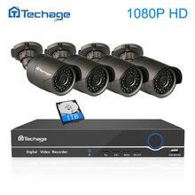 Techage видеонаблюдения системы 4CH 1080 P POE NVR комплект 2MP открытый аудио микрофон IP камера ИК Ночное Видение видео набор для наблюдения