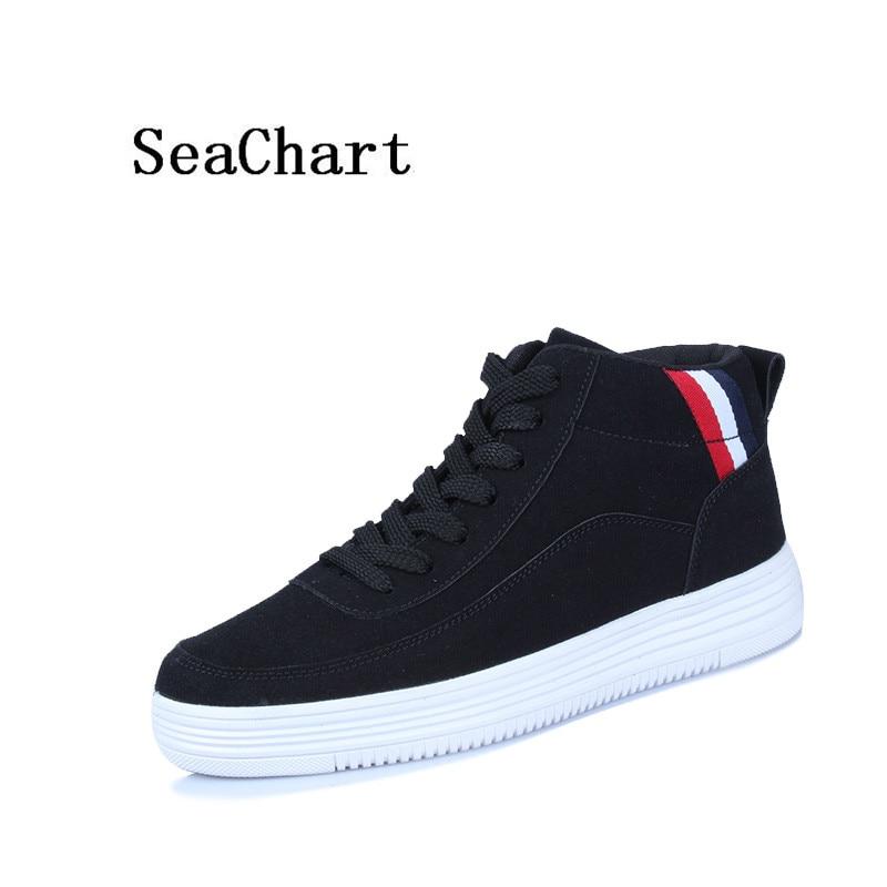 Prix pour SeaChart Nouvelle Arrivée Hommes Planche À Roulettes de Chaussures Hombre Moyen cut top Distinctif Hommes Sneakers de Non-Glissement Mâle Hommes sport Chaussures