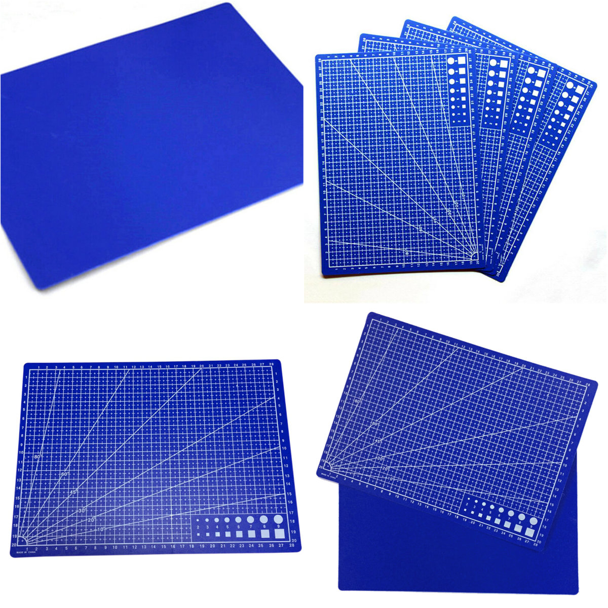 Cutting Mats A4 Grid Double-sided Cutting Plate Design Engraving Model Plate Mediated Knife Scale Plate Cut Cardboard 30*22cm