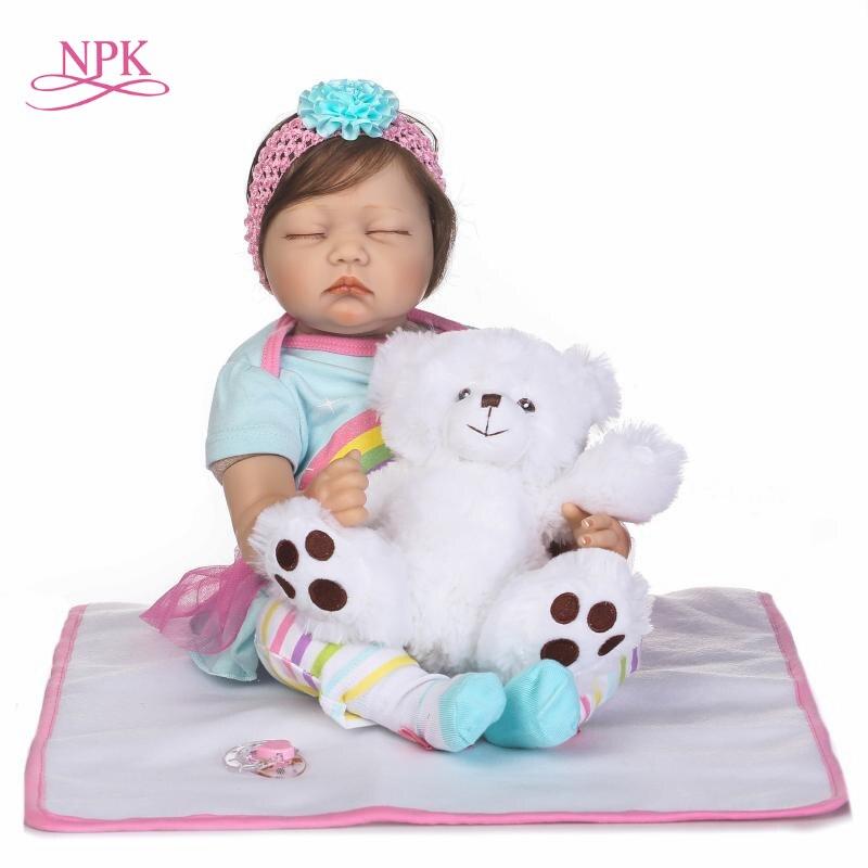 NPK прекрасный сон принцессы для девочек Reborn Baby куклы реалистичные bebe куклы с волосами так действительно возрождается детей подарки на день ...