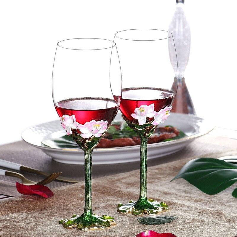 Coffret cadeau en verre de vin rouge émail tasses et tasses créatives