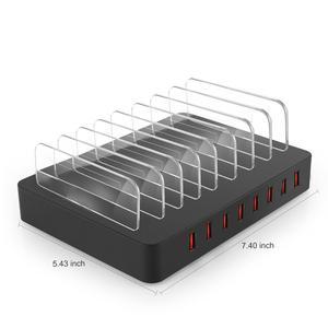 Image 2 - AIXXCO 96W 19A 8 יציאות USB מטען נייד טלפון מטען עבור סמסונג Huawei LG Iphone מתאם