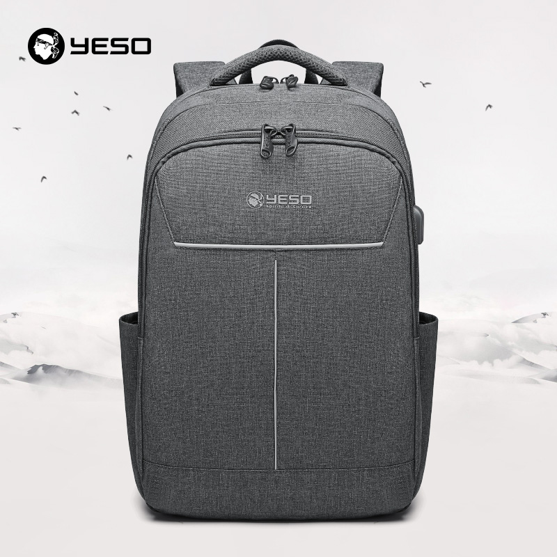 YESO Backpack Large Capacity With USB Charging Multifunction Teenager Business School Travel Laptop Backpacks For Women Men-in Backpacks from Luggage & Bags    1