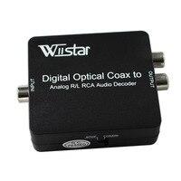Wiistar شحن مجاني dts/ac3 فك الرقمية إلى النظير l/r الصوت فك و محول مع 3.5 ملليمتر الصوت جاك مع حزمة التفاصيل