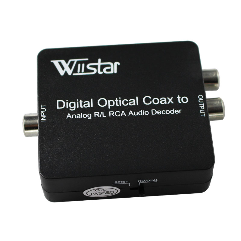 Wiistar Free Shipping DTS/AC3 Decoder Digital to Analog L/R <font><b>Audio</b></font> Decoder & Converter with <font><b>3.5mm</b></font> <font><b>Audio</b></font> <font><b>Jack</b></font> with <font><b>optical</b></font> <font><b>cable</b></font> image