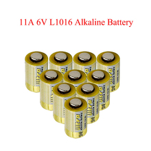 10pcs/lot 11A 6V Primary Dry Batteries L1016 Alkaline Car Key Remote Battery