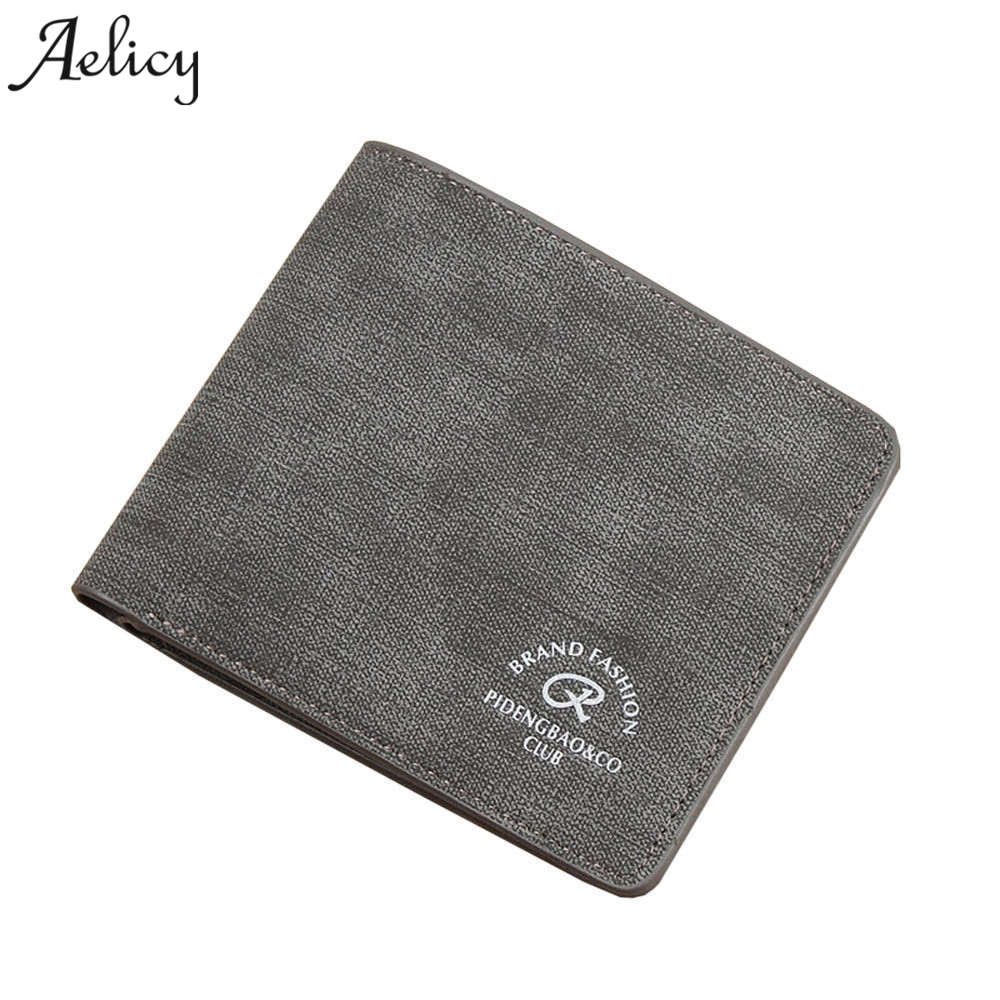 Aelicy Fashion Leather Short Men Man Wallet Small Purse Male Clutch Leather Men Wallets New Card Holder carteira masculina retro plaid men wallets famous brand wallet leather men purse long male clutch wallet big card holder carteira masculina