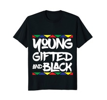 Gifted Young Black | Beautiful African Pride History Shirt Short Sleeves T Shirts Mens T-Shirts Round Neck  Free shipping newest цена в Москве и Питере