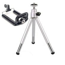 Mini Tripod Professional Flexible Tripod Camera Stand Bracket Tripe Monopod Cellphone Holder Clip For Iphone Samsung