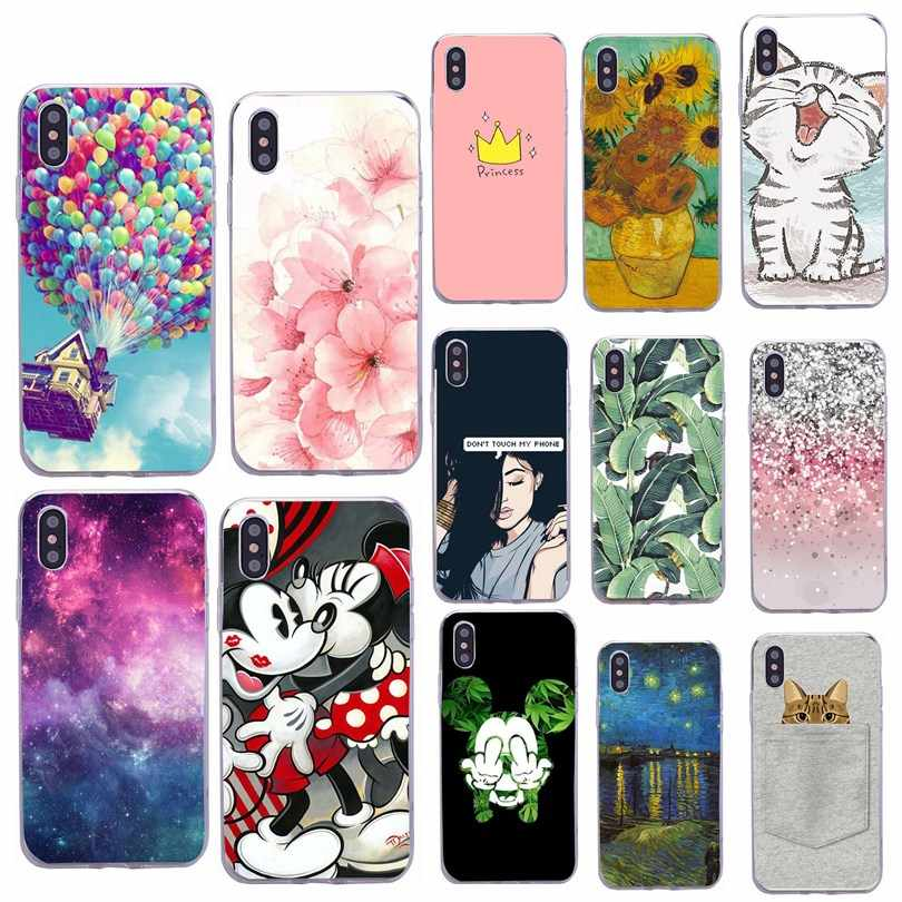 Voor coque iphone 8 plus case hoesjes 8 plus luxe cover soft silicon miki muis telefoon case voor iphone x 10 7 7 plus 6 6s 5 5s se