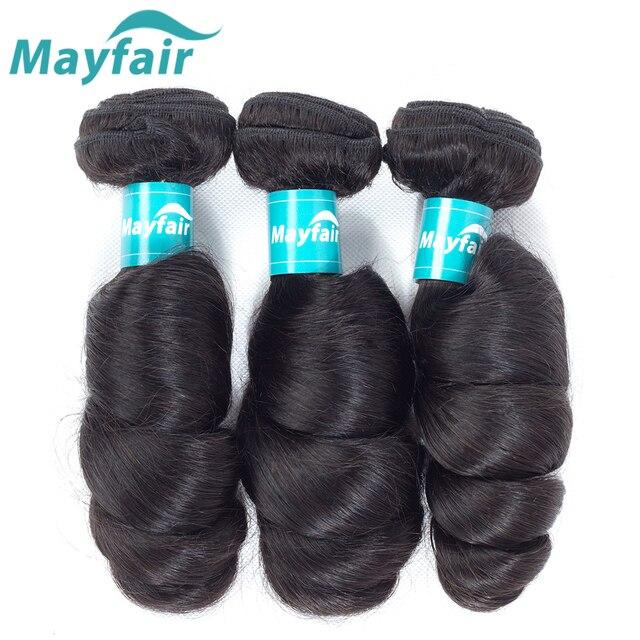 Mayfair Brazilian Loose Wave Bundles Natural Color 3pcs Remy Hair Double Weft Hair 100% Human Hair Weave Extensions