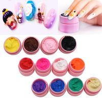 1pcs 3D Carving Gel 4D Sculpture UV Gel Painting Acrylic Modelling Nail Art Manicure Decor 12 Colors No Sticky Hand Easy Work