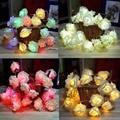 20 LED de Hadas Guirnalda de Rose de La Flor Del Banquete de Boda de Navidad Decoración Luz de la Secuencia