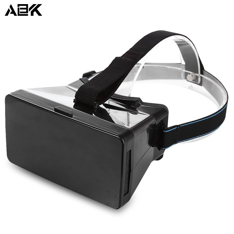 ALBK V9 3D Virtual Reality Head-Mounted Video Glasses with 90 Degree View Angle for 3.5 – 5.6 inches universal mobile phones