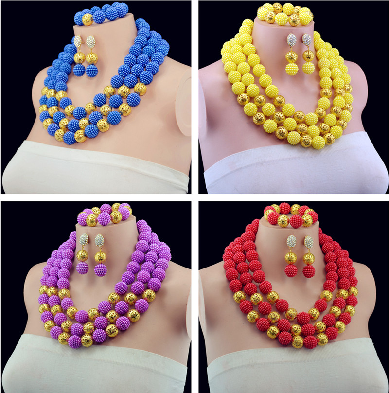 Latest New Statement Necklace African Wedding Beads Bridal Jewelry ...