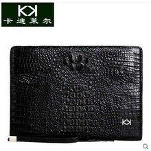 Kadiler crocodile handbag men high-capacity leather business luxury clip package caught men's bags hand bag
