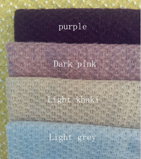 150*100cm Knitted Acrylic thin Fabric Newborn Baby Photography Photo Props Backdrop Blanket Newborn Basket Stuffer