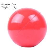 2016 Hot Sale Durable Red Solid Natural Rubber Elastic Pet Ball Toys Bite Resistant Dog Chew Training Toys Non-Toxic
