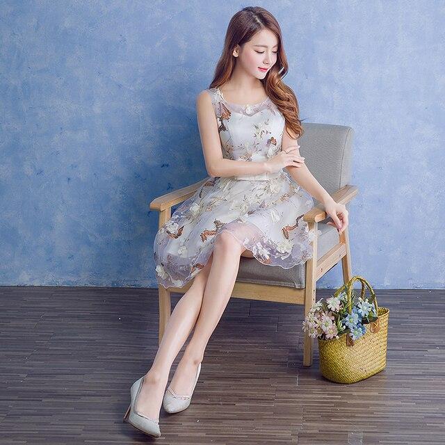 1ba0f48df0c8 € 37.75 |2016 recién llegado vestido corto de baile para mujer moda  elegante estilo una línea estilo coreano lindo sexy vestidos cortos en  stock ...