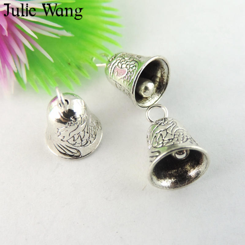 Home & Garden 20pcs Tibetan Silver Bell Charms H2389