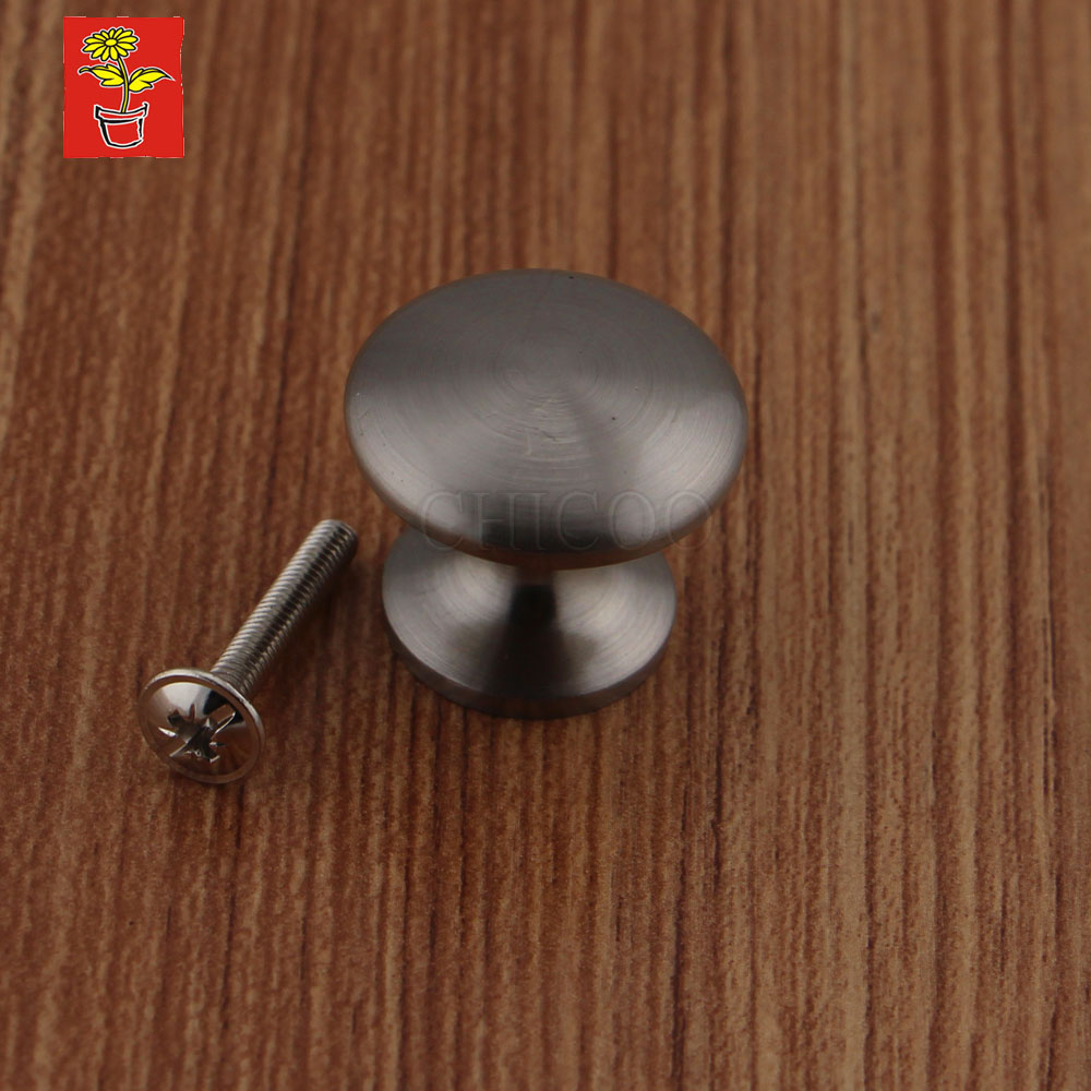cabinet knobs handles Zinc alloy Satin nickel drawer pull kitchen knobs Furniture knob