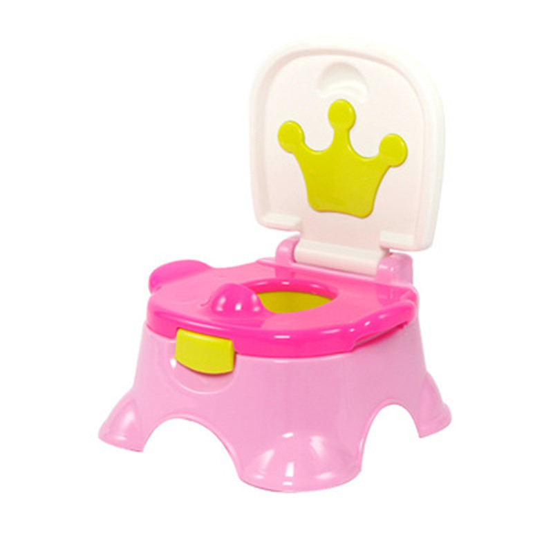 Cartoon Crown Baby Training Toilet Girls Boys Portable Travel Carrying Urinal Pee Toilet Kids Cute Bathroom Urinal Baby Potties