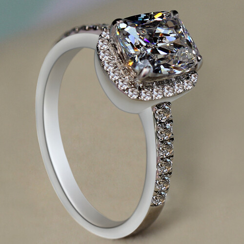 925 Sterling Silver Rings Real Pure Wedding Gifts Women Diamond Engagement Jewelry