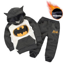 Children Clothing 2019 Autumn Winter Toddler Boys Clothes Batman Outfit Kids Clothes Suit Christmas Costume For Boy Clothing Set(China)